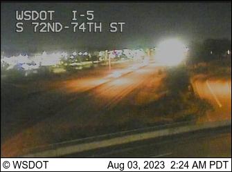 I-5 at MP 129.6: S 72nd/74th St