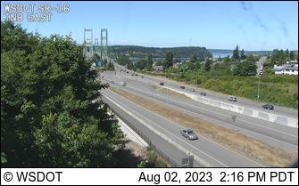 SR 16 at MP 4.7: Tacoma Narrows Bridge, Eastside