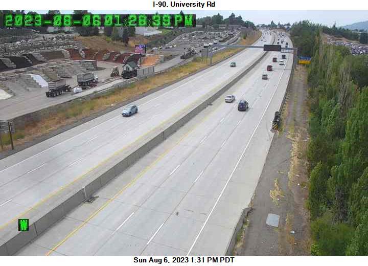 I-90 at MP 288.8: University