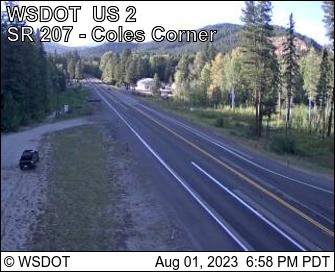 US 2 MP 84 SR 207 Coles Corner looking West