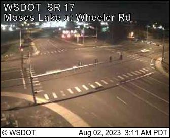 SR 17 at MP 53.2: Moses Lake at Wheeler Rd