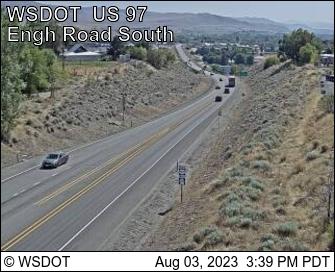 US 97 at MP 232: Engh Rd (View South)