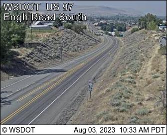 US 97 at MP 292: Engh Rd (View South)