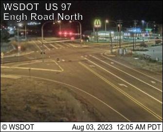 US 97 at MP 232: Engh Rd (View North)