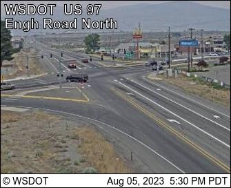 US 97 at MP 292: Engh Rd (View North)