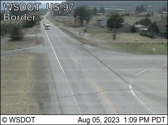 US 97 at MP 336.4: (View South)