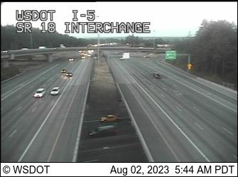 I-5 at MP 142: SR 18 Interchange