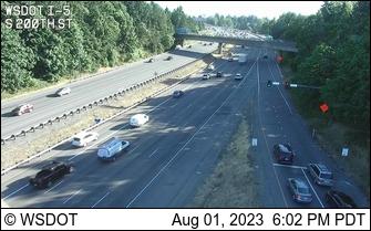 I-5 at MP 151.2: S 200th St