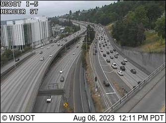 I-5 at MP 167: Mercer St