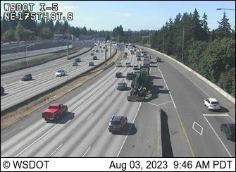 WSDOT - I-5 at MP 176: NE 175th St - Seattle Washington Cameras