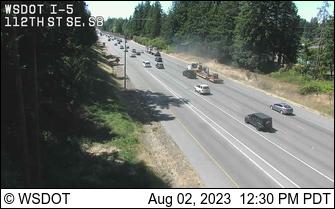 I-5 at MP 187.4: 112th St SW, SB