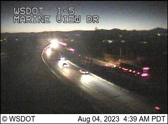 WSDOT - I-5 at MP 194 6: Marine View Dr Camera