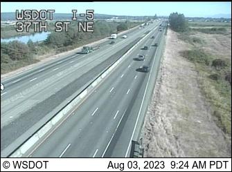 I-5 at MP 197.5: 37th St NE