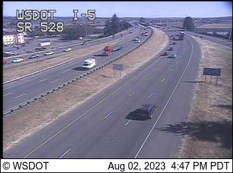 I-5 at MP 199.1: SR 528 Interchange