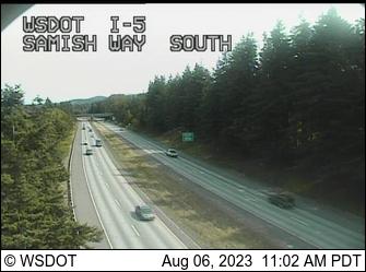 I-5 at MP 251.8: Samish Way SB Onramp