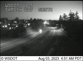 I-5 at MP 252.2: Samish Way NB Onramp