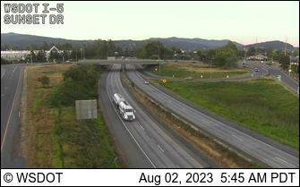 I-5 at MP 254.9: Sunset Dr