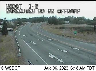 I-5 at MP 257.6: Bakerview, SB Offramp