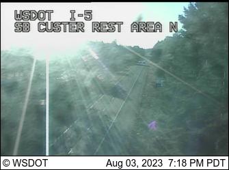 I-5 at MP 269.2: SB Custer Rest Area North