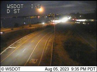I-5 at MP 276.2: D St