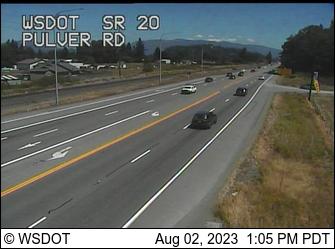 SR 20 at MP 58.7: Pulver Rd