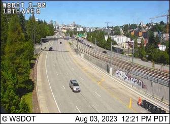 I-90 at MP 3.1: 18th Ave S (Near Rainier Ave)