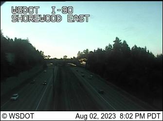 I-90 at MP 7.8: Shorewood