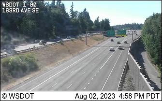 I-90 at MP 12.4: 163rd Ave SE