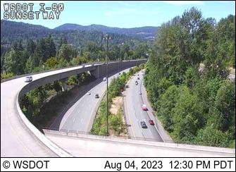I-90 at MP 18: Sunset Way