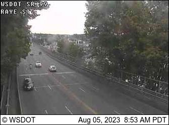 Веб камера США Сиэтл Движение транспорта по мосту Балларда