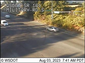 SR 161 at MP 32.5: Military Rd