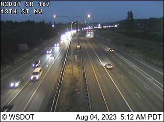 SR 167 at MP 15.5: 13th St NW