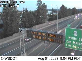 SR 167 at MP 20.6: 4th Ave N