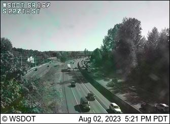 SR 167 at MP 21.8: S 222nd St