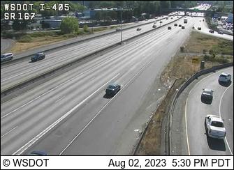 I-405 at MP 2.2: SR 167 Interchange
