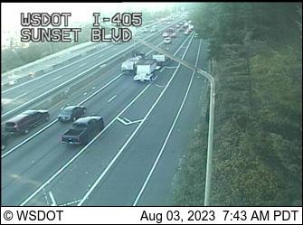 I-405 at MP 4.7: Sunset Blvd