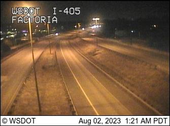 I-405 at MP 11: I-90 Interchange (Factoria)