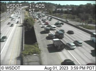 I-405 at MP 12.8: SE 8th St