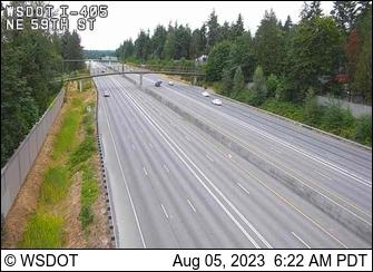 I-405 at MP 16.7: NE 59th St