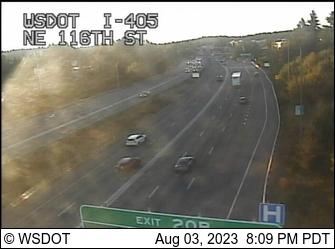 I-405 at MP 19.8: NE 116th St