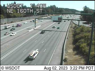 I-405 at MP 22.5: NE 160th St