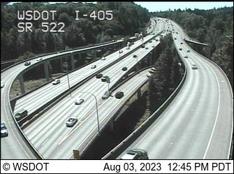 I-405 at MP 23.6: SR 522 Interchange