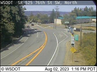 SR 525 at MP 6.9: 76th St SW (north)