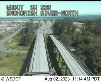 SR 529 at MP 4.1: Snohomish River North