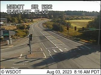 SR 532 at MP 0: Sunrise Blvd