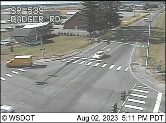 SR 539 at MP 12.5: Badger Rd