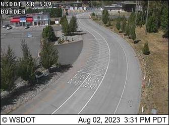 SR 539 at MP 15.1: Canadian Border