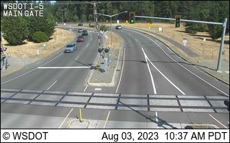I-5 at MP 120.8: JBLM Main Gate Rail Crossing