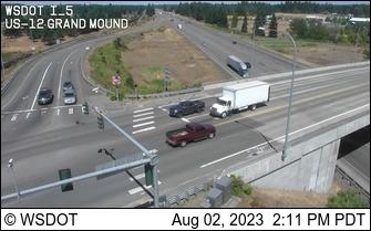 I-5 at MP 88.3: US 12 Interchange Grand Mound