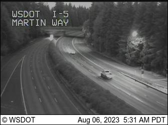I-5 at MP 109: Martin Way